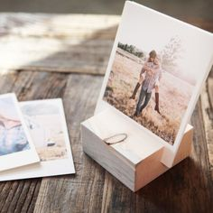 Our wood blocks display your photo prints beautifully. Artifact Uprising uses reclaimed Colorado wood to showcase your uploaded photo prints. Cute Engagement Gifts, Wedding Engagement, Engagement Photos, Fun Crafts, Diy And Crafts, Artifact Uprising, Practical Wedding, Photo On Wood, Photo Displays