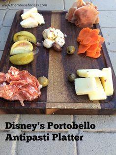 Antipasti Platter at Portobello restaurant at Disney Springs The Landing #DisneyDining #DisneySprings
