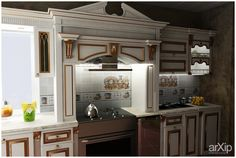 кухня: зd визуализация, мебель #3dvisualization #furniture arXip.com