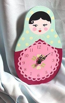cute Russian doll clock