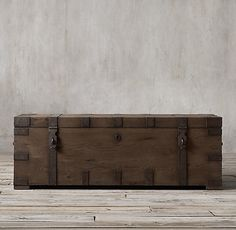 Restoration Hardware - Heirloom Silver-Chest Coffee Trunk. Current contender for my coffee table, but it may be a bit too big for my space.