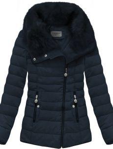 Tmavě modrá prošívaná bunda s límcem (R1058) Canada Goose Jackets, Winter Jackets, Fashion, Winter Coats, Moda, Winter Vest Outfits, Fashion Styles, Fashion Illustrations