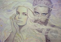 Of Aule and Yavanna by kimberly80 on deviantART - gorgeous fantasy woman and warrior. #Silmarillion