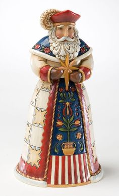 "JIM SHORE CHRISTMAS FIGURE ""POLISH"" SANTA NIB"