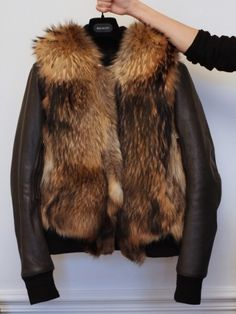 Add a faux fur vest on top of an old moto jacket and you've got instant chic.--40winksaday!