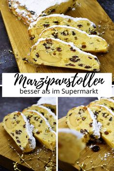 Christmas Biscuits, Christmas Baking, Stollen Recipe, Cake & Co, Cake Makers, Sweet Bread, No Bake Cake, Cookie Recipes, Food And Drink