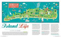 Amelia Island illustrated Map for Jacksonville Magazine by Nate Padavick