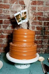 Polaroid Cake Toppers   37 Things To DIY Instead Of Buy For Your Wedding