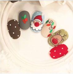 Nail Art Noel, Xmas Nail Art, Holiday Nail Art, Christmas Nail Art Designs, Dream Nails, Love Nails, Pretty Nails, Christmas Gel Nails, Manicure E Pedicure