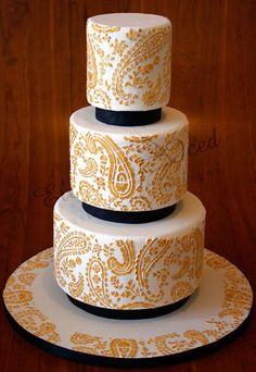 pretty paisley cake