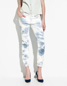 My tie-dye jeans. Zara, Trafaluc/TRF collection ;)