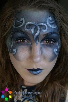 Jennifer Parker @ Kaleidoscope Face Painting- I love this and can't wait to try something similar to it.