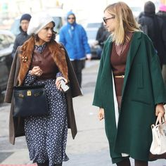 New York Fashion Week Street Style - Grazia. New York Fashion Week Street Style, Street Chic, Well Dressed, Personal Style, Duster Coat, Style Inspiration, Instagram Posts, Clothes, Dresses