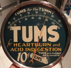 Tums Vintage Thermometers  (Heartburn & Acid Indigestion)