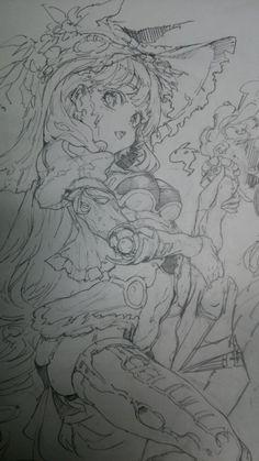 久しぶりにオリジナルの落描きしてみてるけど難しい。もっといいデザイン描けるようになりたい