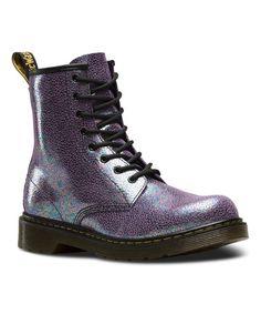 dr martens Loving this Purple Delaney Ankle Boot - Kids on #zulily! #zulilyfinds