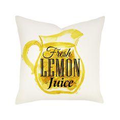 Lemon Juice Pillow - The Right Type: Pillows on Joss & Main via Polyvore
