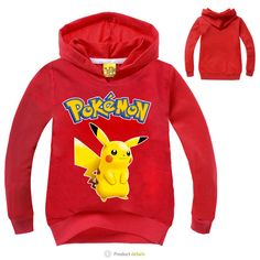 d771fcbef Pokemon Go Kids Clothes Boys Hoodies and Sweatshirts Girls Pikachu Hoodie  Baby Pokemon Clothes Long Sleeve Children Clothing-in Jackets & Coats from  Mother ...