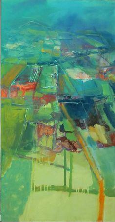 ☼ Painterly Landscape Escape ☼ landscape painting by Curt Butler - Land ~ oil on canvas ~ by Anne-Laure Djaballah