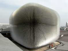 "Thomas Heatherwick's UK Pavilion at the 2010 Shanghai Expo, dubbed ""The Seed Cathedral."" (Love it? Watch his TED Talk too...http://www.ted.com/talks/thomas_heatherwick.html)"
