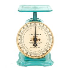 Vintage Green Columbia Family Scale  Home Decor by BenoitEtNatalie, $60.00