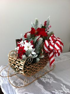 Christmas Decor Materials for project can be purchased @ Micheals. Christmas Baskets, Christmas Flowers, Christmas Wood, Christmas Sleighs, Christmas Chocolate, Christmas Arrangements, Christmas Centerpieces, Christmas Decorations, Christmas Wreaths