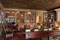 Library, A Rustic Swiss Alpine Hideaway