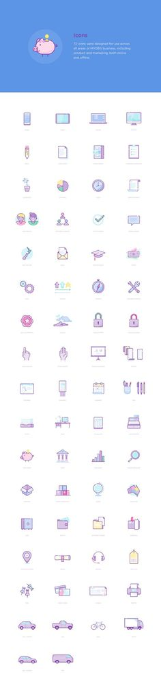 8 scenes, 14 characters and 72 icons, commissioned by the wonderful team at Mind Your Own Business, an Australian multinational corporation that provides tax, accounting and other services to small and medium businesses. Web Design, Icon Design, Line Illustration, Graphic Design Illustration, Bullet Journal Key, Mobile Icon, Icon Set, Icon Icon, Icon Collection