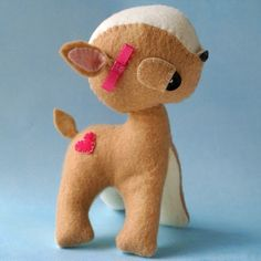 Handmade Gifts | Independent Design | Vintage Goods Fairy Tale Fawn - Collectible Plushes