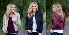 Summer is coming to an end so get ready to enjoy the crisp fall air with this gorgeous bomber jacket!
