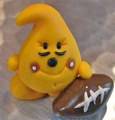 Football Parker Polymer Clay Character by @KatersAcres --- ADOPTED