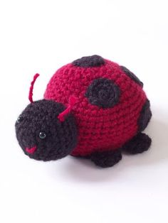 Free Crochet Pattern Lady Bug Appliques - Crocheting Patterns
