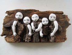 Woodland Spirits mixed media wood art doll sculpture found object ...