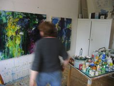 some action painting going on today | by caroline havers