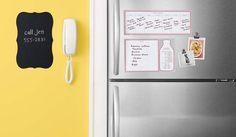 Keep your kitchen and family organized with removable decals from #marthastewarthomeoffice
