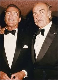 Roger Moore & Sean Connery