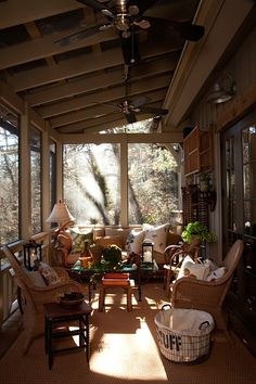 Designer Bill Cook's wonderful porch in his Highlands, NC home (via Lissy Parker blog)