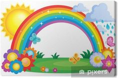Rainbow sun painted flowers, Hand Painted, Rain, Rainbow PNG and Vector Rainbow Cloud, Rainbow Theme, Rainbow Birthday, Rainbow Png, Rainbow Clipart, Art Drawings For Kids, Drawing For Kids, Preschool Crafts, Crafts For Kids