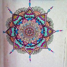 "9 curtidas, 1 comentários - @relmaart no Instagram: ""Mandala in the wall #mandalawall #mandaladraw"""