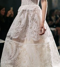 "The LANE on Instagram: ""Transparent details and delicate lace... Reem Acra Fall 2016"""