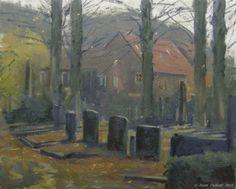 Cemetery Loolaan. Doetinchem, Holland., painting by artist Rene PleinAir