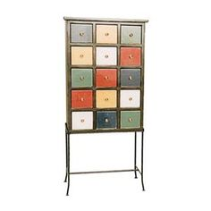 Multi-colored Apothecary Cabinet
