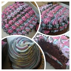 My daughter's birthday cake! Galaxy inspired.