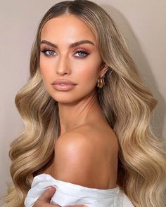 Wedding Eye Makeup, Bridal Hair And Makeup, Wedding Hair And Makeup, Bridal Makeup For Blondes, Natural Makeup For Blondes, Bride Makeup Blonde, Simple Bridal Makeup, Make Up Ideas For Wedding, Makeup Looks For Prom