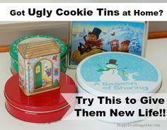 Turn Ugly Christmas Cookie Tins Into Adorable Gift Boxes!
