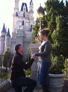 Jordans perfect Disney proposal at Cinderella's wishing well!!!