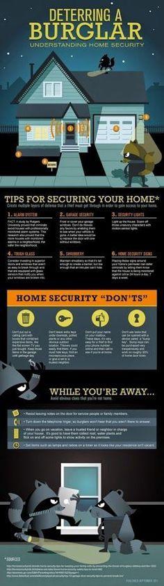 Detering a Burglar #security #selfdefenseinfographic