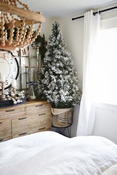 Vintage French Soul ~   The easiest way to get farmhouse christmas style - Great tips and inspiration on how to decorate for the holidays & get the perfect cozy farmhouse look.