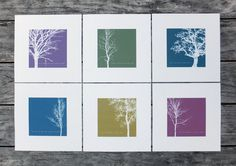 Tree Prints Winter Trees Winter Print Winter by CoulsonMacleod