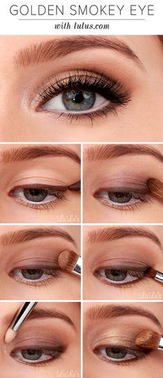 golden smokey eye